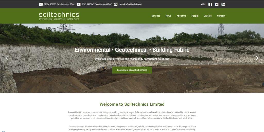 Soiltechnics Website Launch